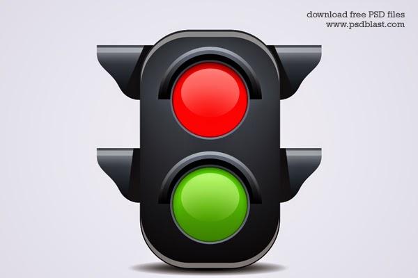 Traffic Light Icon PSD