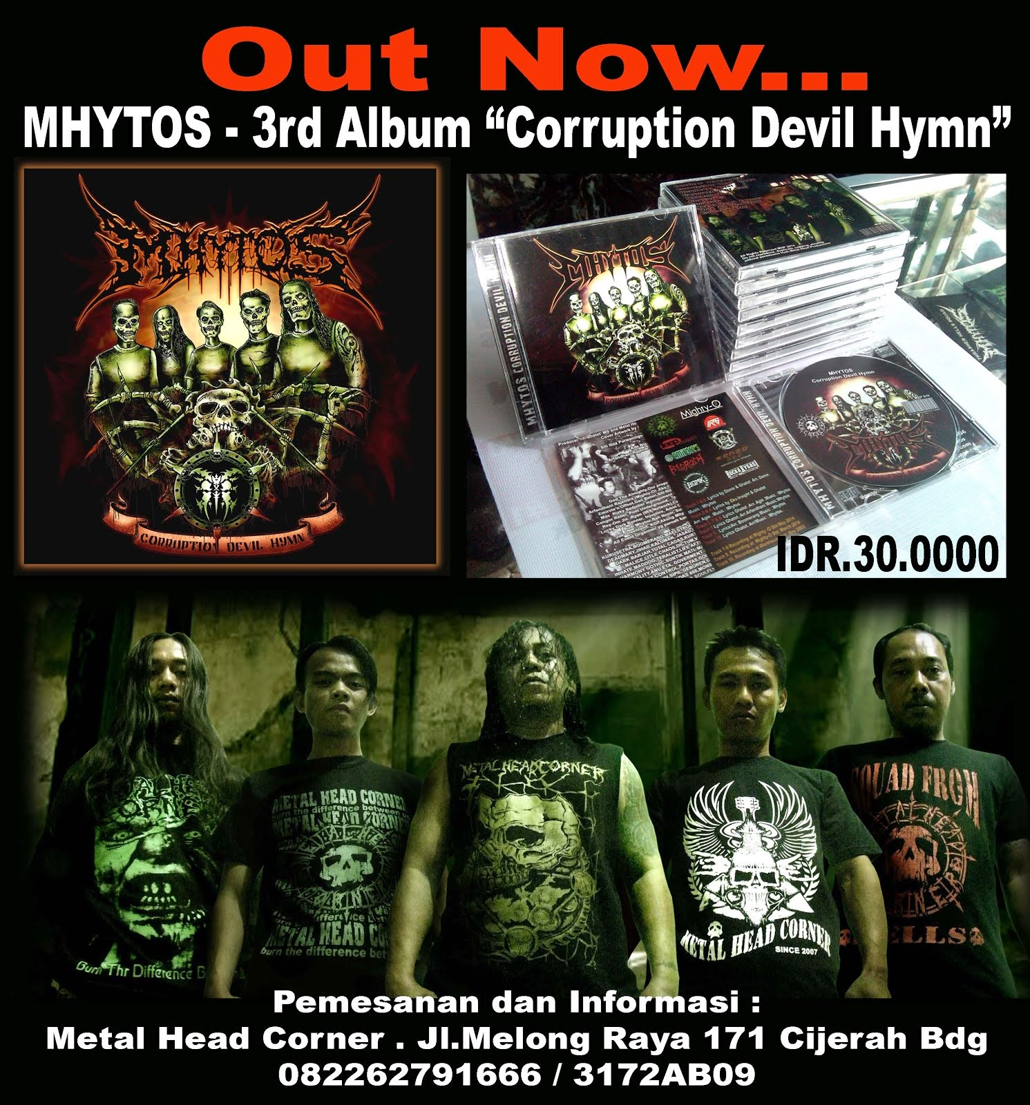 "MHYTOS 3rd Album ""Corruption Devil Hymn"""