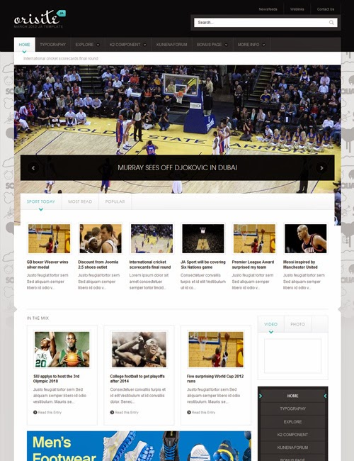 JA Orisite v1.1.6 – Sports template for Joomla