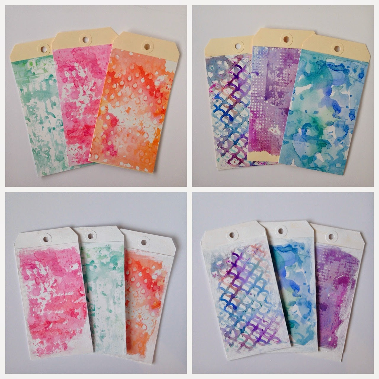 Tim's 12 Tags of 2014 Watercolor Tag Tutorial