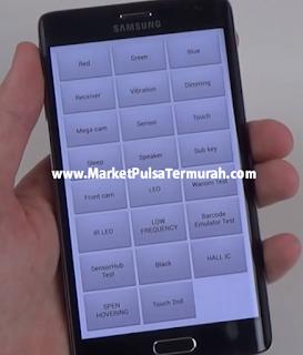 test menu Samsung