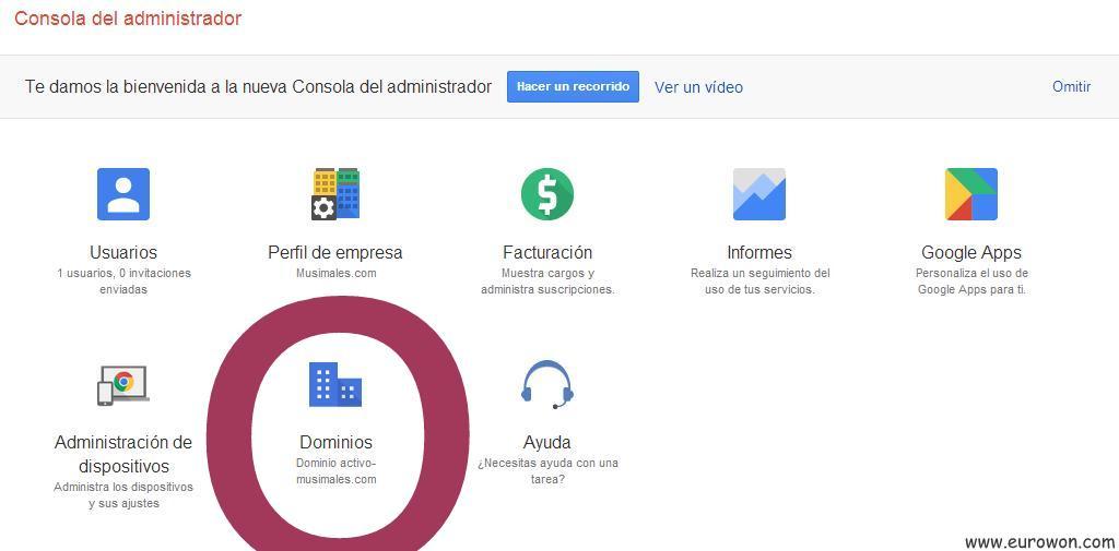 Consola de Google Apps