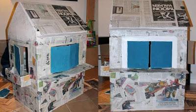 como hace casita de papel periodico