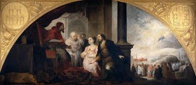 El patricio revelando su sueño al Papa Liberio de Murillo