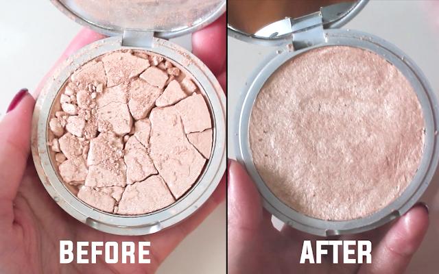 How to fix broken powder makeup