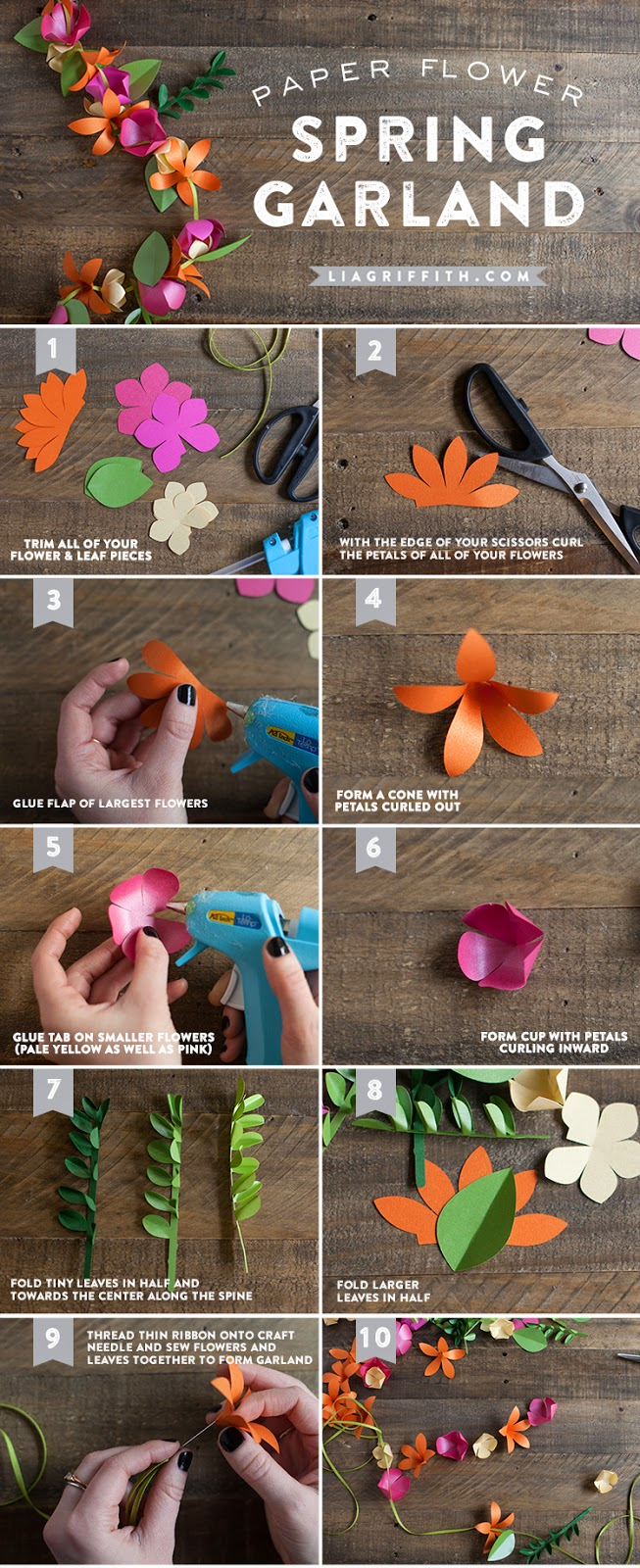Enchanted revelries spring paper flower garland tutorial her paper boxwood wreath in mondays post thats the great thing about this garland you can add or omit any parts of it and it will still look great mightylinksfo