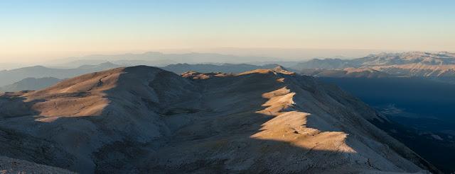 La valle di Femmina Morta vista dal Monte Amaro