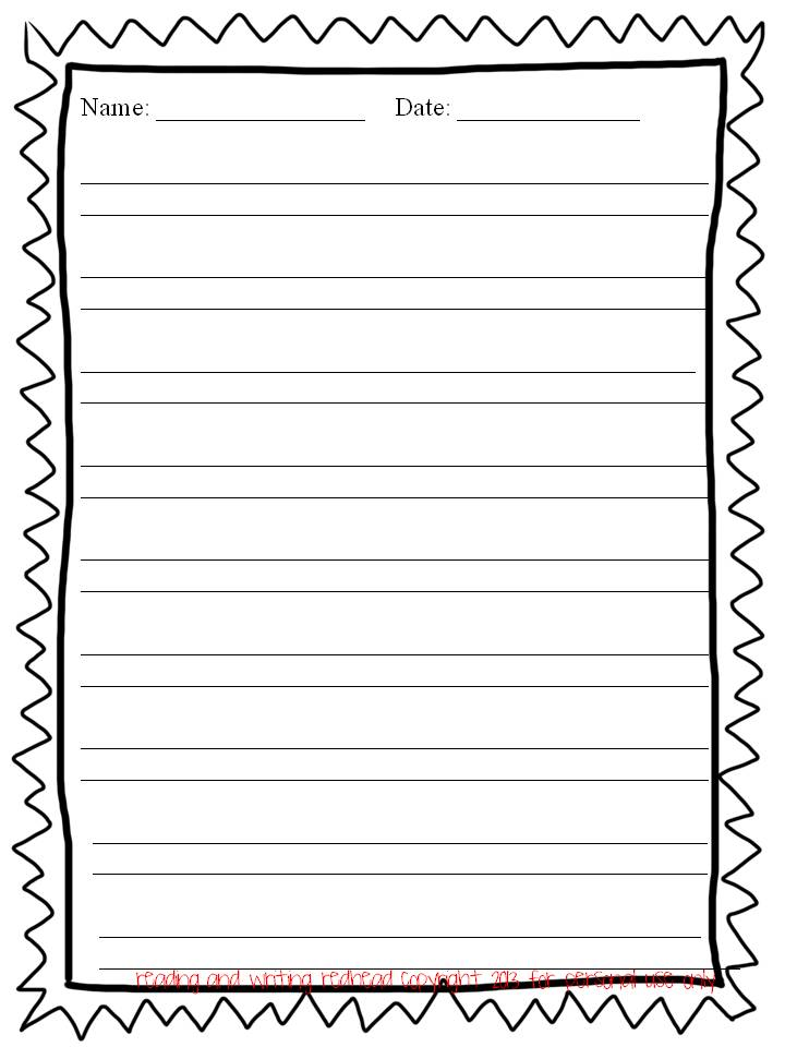 Custom writing paper with borders ks2