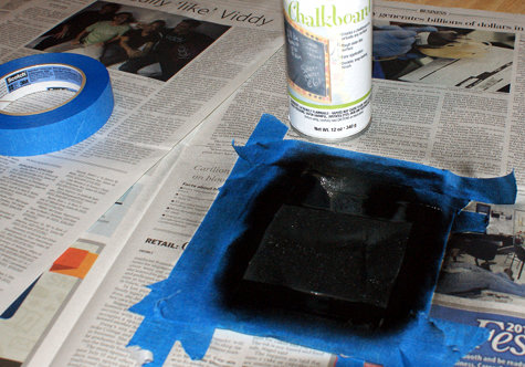 Spray your diy gift bag with Chalkboard Paint
