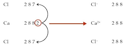 atom Cl menjadi ion Cl– setelah menerima 1 elektron.