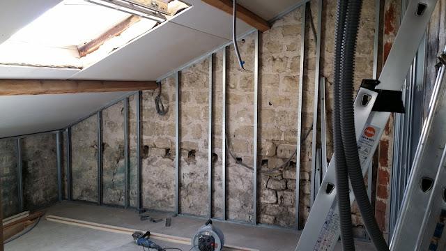 la renaissance de l 39 atelier isolation des murs et plaquage chambre 3. Black Bedroom Furniture Sets. Home Design Ideas