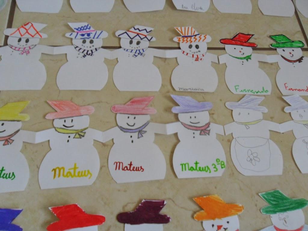 Pedag giccos bonecos de neve guirlandas festivas for Bordas para mural