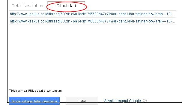 Cara Memperbaiki Kesalahan URL Di Webmaster Google