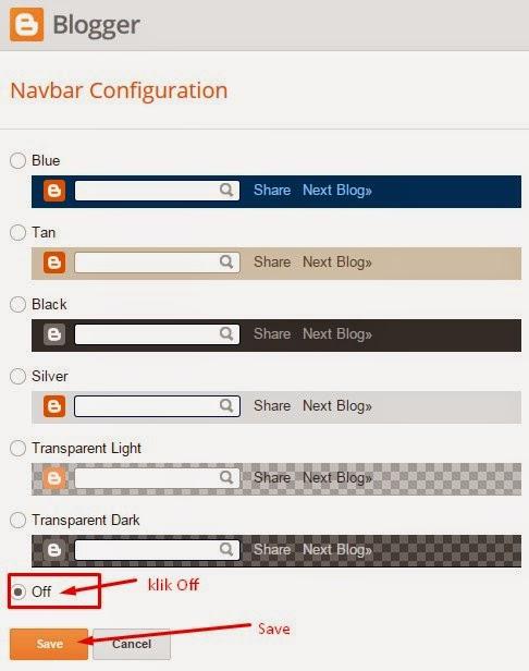 Cara Menghilangkan Navbar Pada Blog