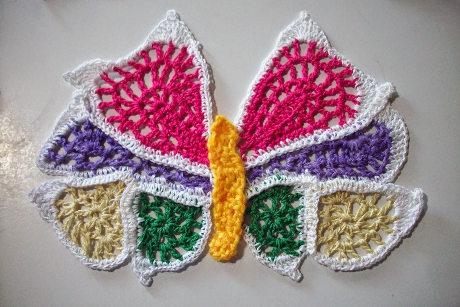mariposa al crochet