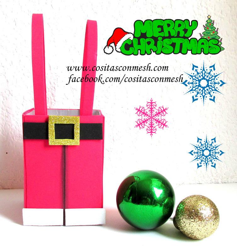 Manualidades navideñas reciclando cajas paso a paso ~ cositasconmesh