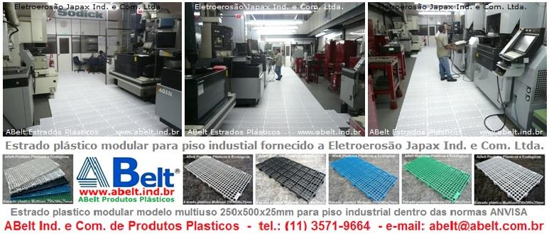 Estrado de plástico modular para piso industrial