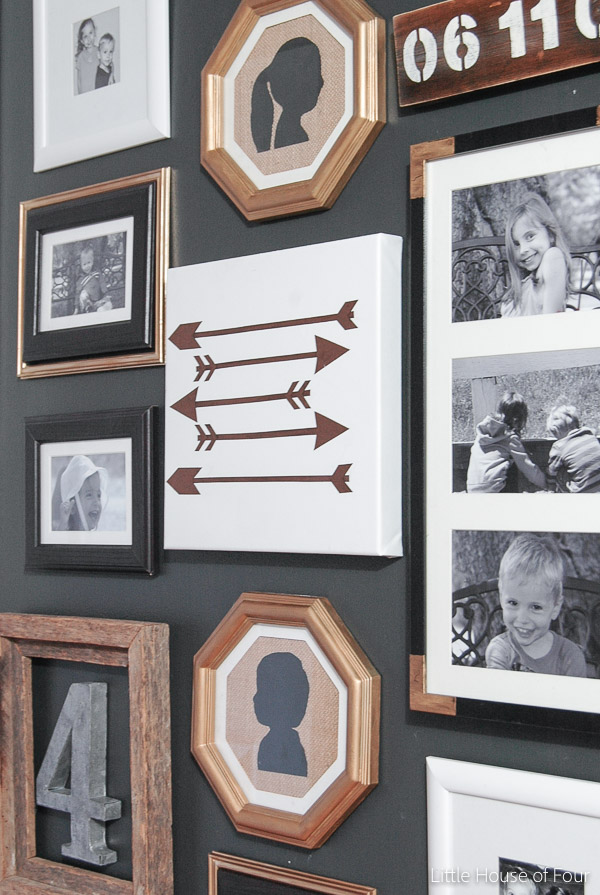 Updated Hall Gallery Wall | Little House of Four - Creating a ...