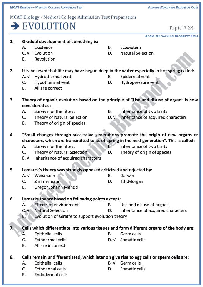 evolution-biology-mcat-preparation-notes