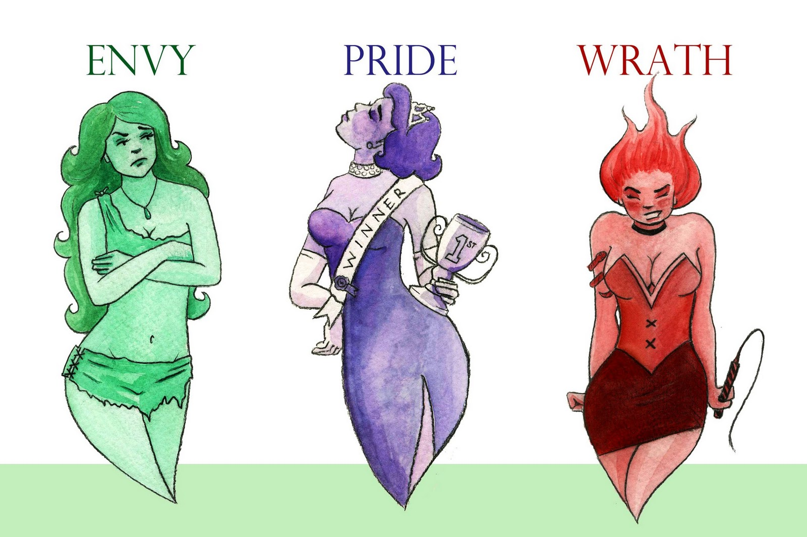 Illustrations by chelsea castillo the seven deadly sins message me at ccastillo1goad biocorpaavc Image collections