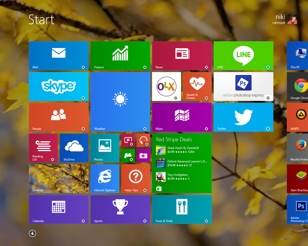how to return to the windows start screen