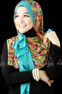 Nuhijab SSB Flower - Yellow Tosca (Toko Jilbab dan Busana Muslimah Terbaru)