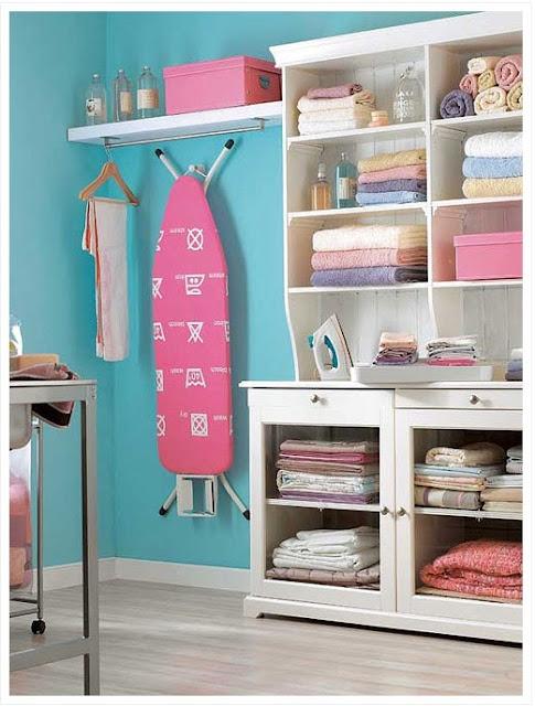 organizando e decorando a lavanderia