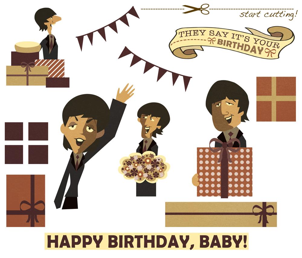 Linnica A 3D Beatles Birthday Card – Beatles Birthday Cards