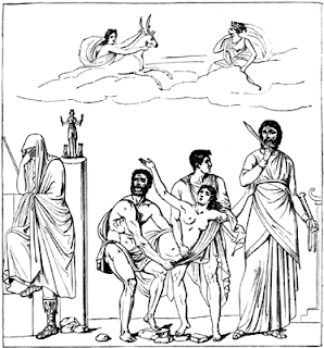 Sacrifice of Iphigenia From a Pompeian wall-painting.
