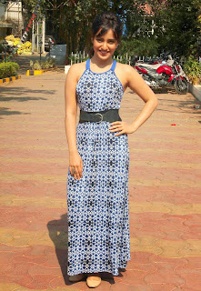 Actress Neha Sharma Pictures in Long Dress On The Sets Of Nandini  6.jpg
