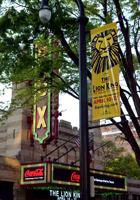 The Lion King, street banner near The Fox Theatre