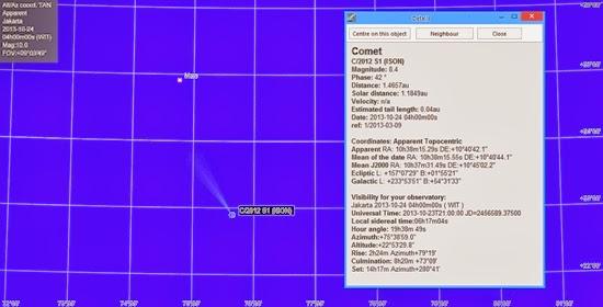 Komet ISON Makin Cemerlang di Langit Bumi