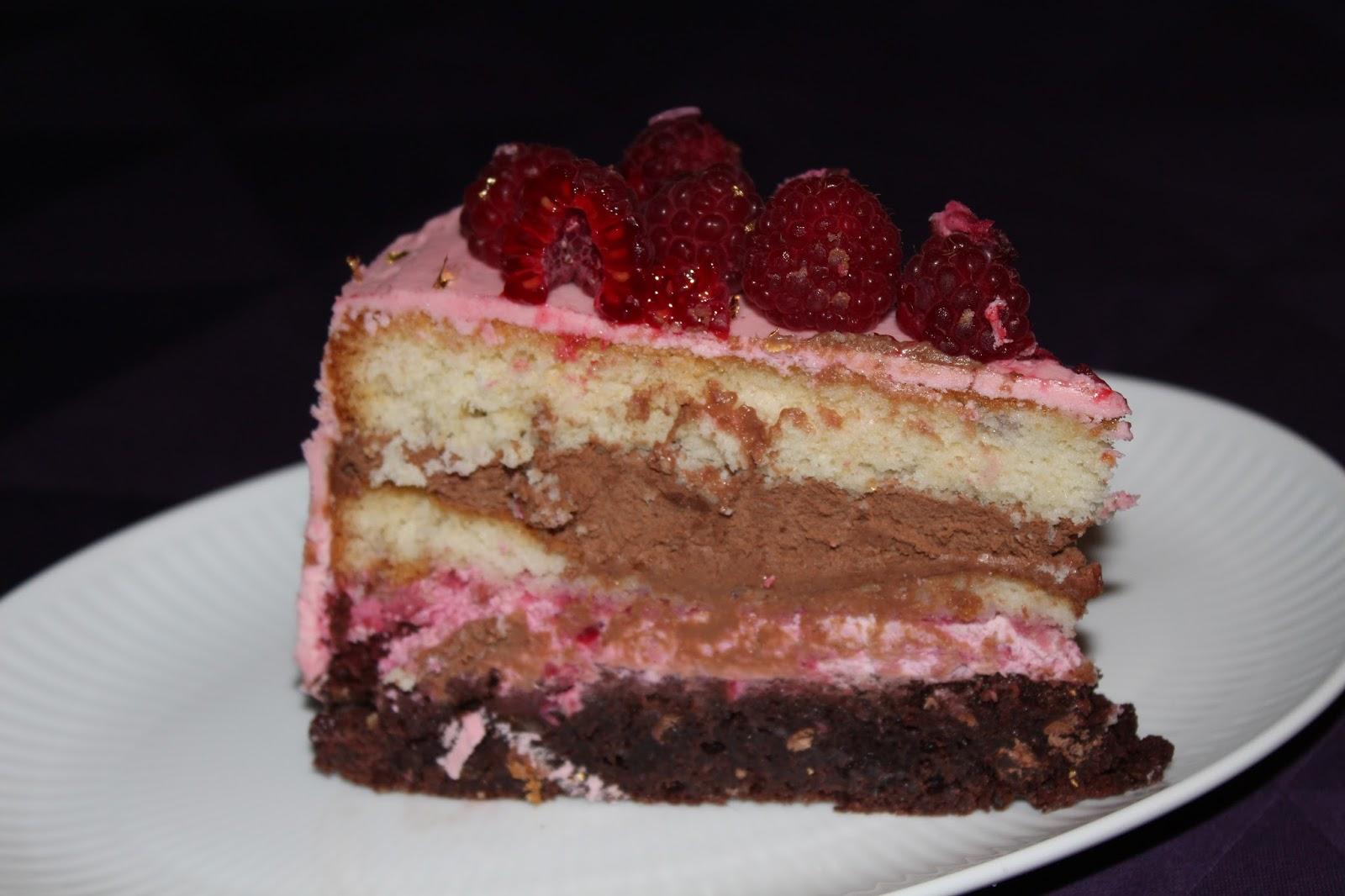lagkage med chokolademousse