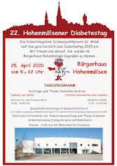 22. Hohenmölsner Diabetestag am 25.04.2020