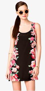 Forerver21 Mirrored Rosebud Dress Floral
