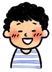 男の子の表情のイラスト(照れ)