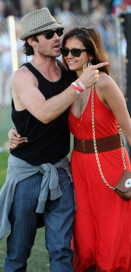 ian somerhalder and girlfriend street style coachella