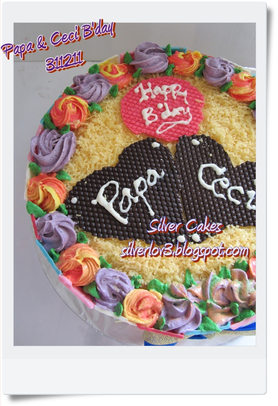 B Day Cake Images For Papa : Silver Cakes: Papa N  Ceci B day Cake
