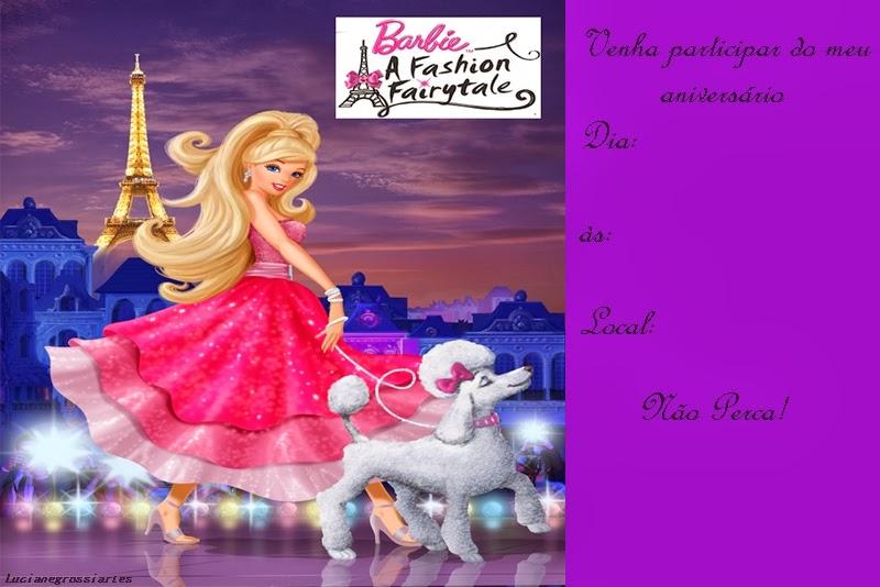 Invitaciones Gratis de Barbie.