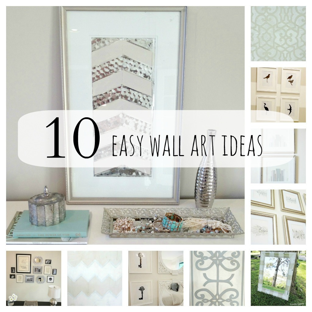 Easy diy wall art ideas home design for Simple home decor ideas