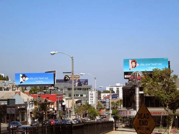 Google Play your heart out music billboards Sunset Strip