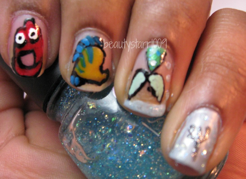 I\'m just me...ChiChi: Disney Nail Art Challenge - The Little Mermaid