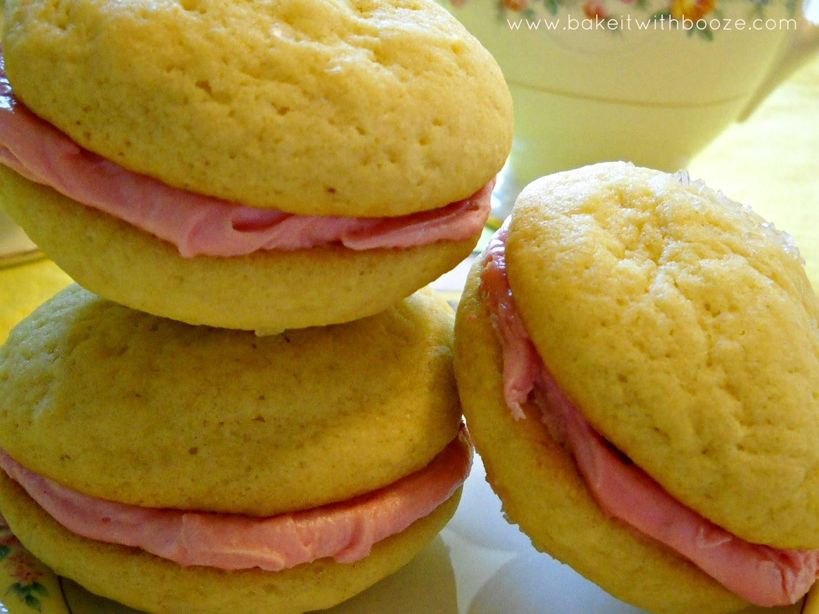 Pillowy lemon cookie sandwiched with luscious tart raspberry filling ...