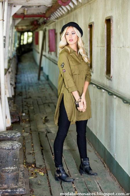 Camisas largas con tajos laterales moda otoño invierno 2016 Reina Ana.