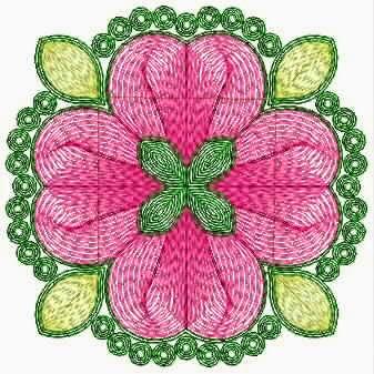 Applique is in blom ontwerp