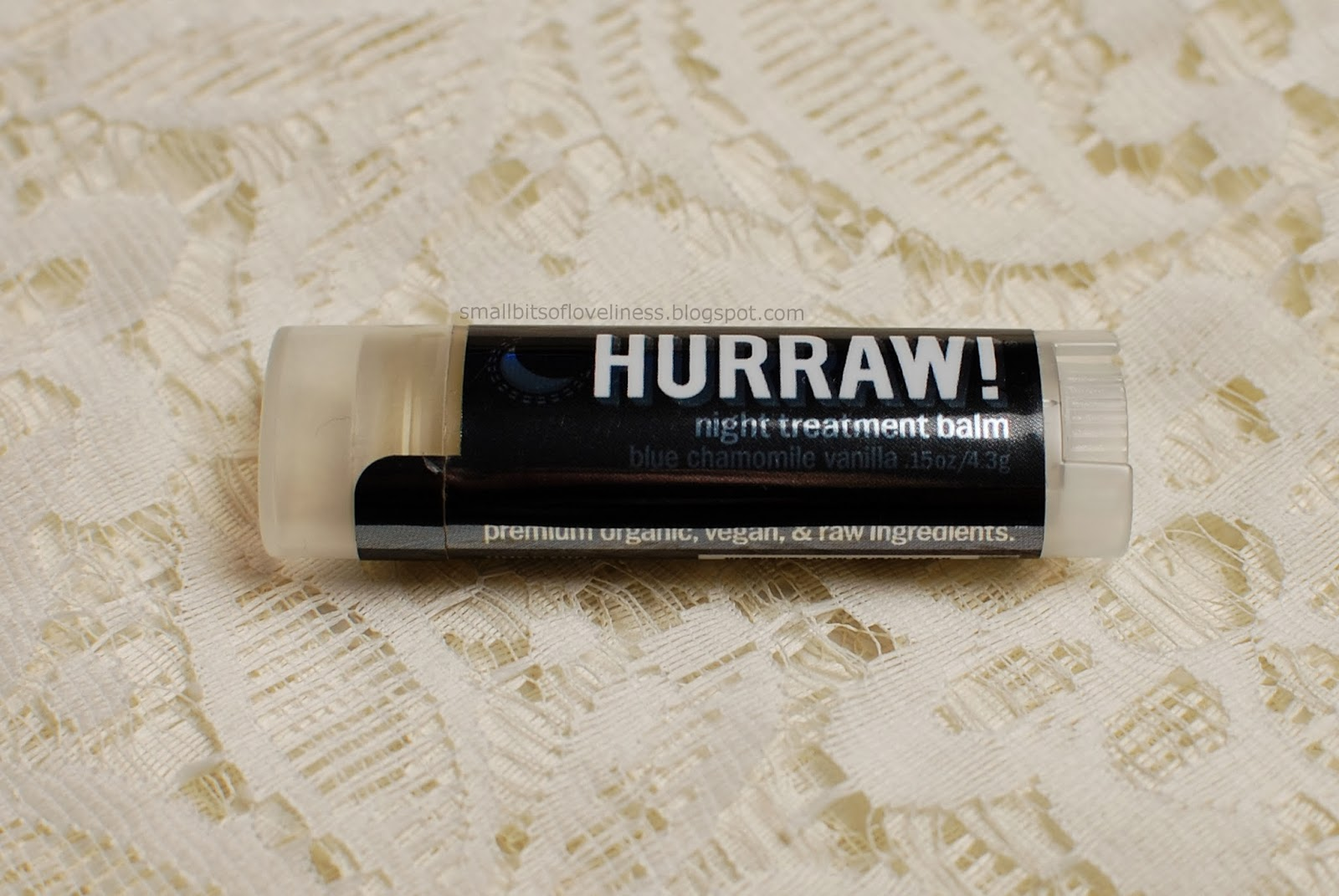 Hurraw Night Treatment Balm, Blue Chamomile Vanilla