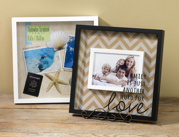 Custom Shadow Box Frames @craftsavvy @sarahowens #craftwarehouse #frames #scrapbooking #diy