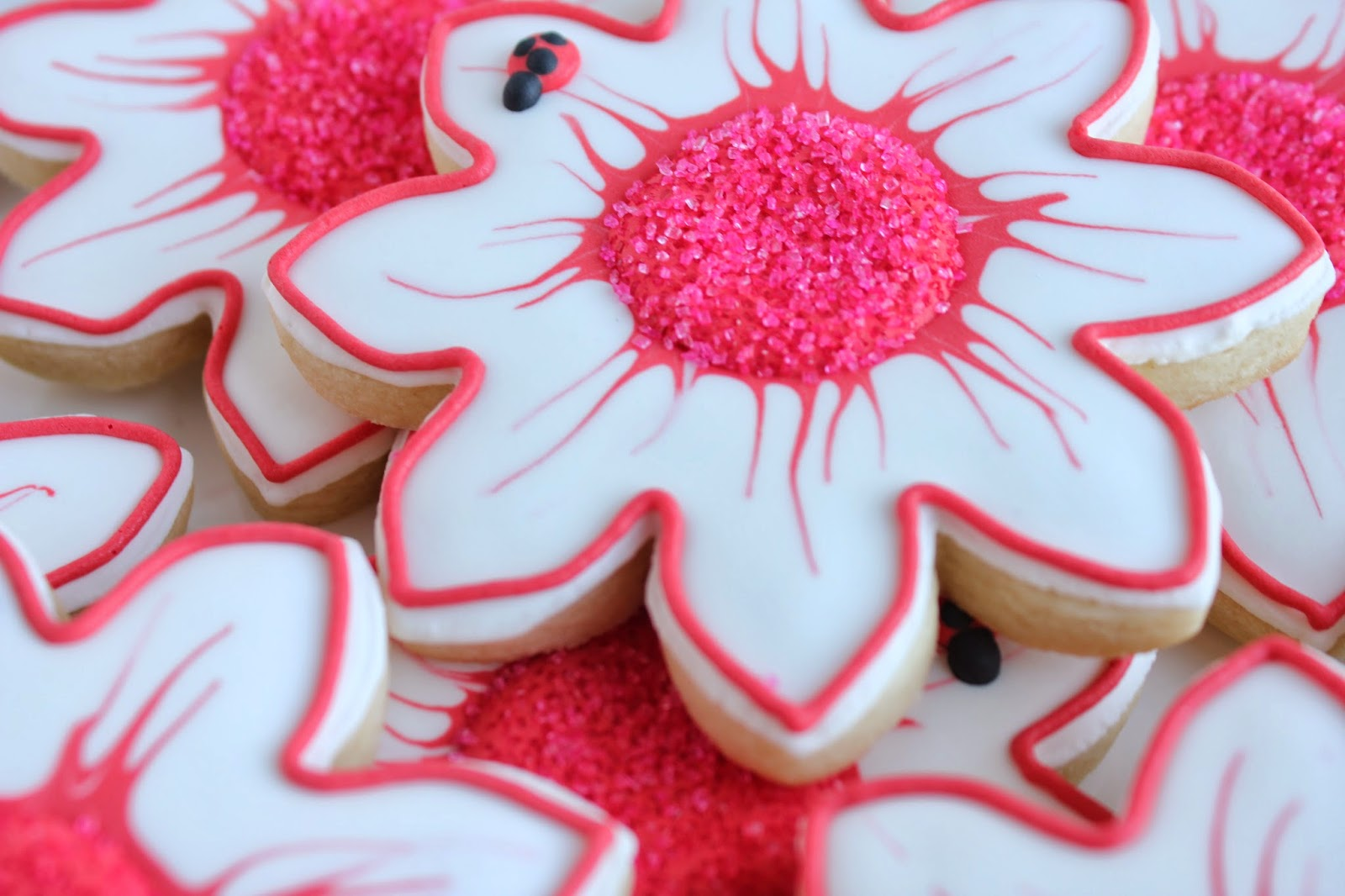 Sugar Beas Blog Lady Bug And Flower Cookies Little Girl Birthday