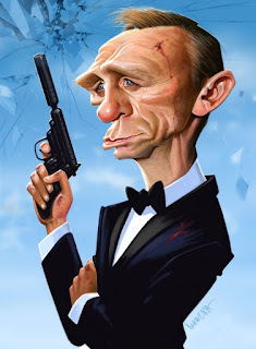 Gambar Karikatur Daniel Craig James Bond 007 Artis Hollywood