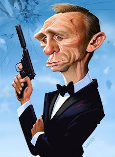 Gambar Karikatur Daniel Craig James Bond 007 Artis Hollywood